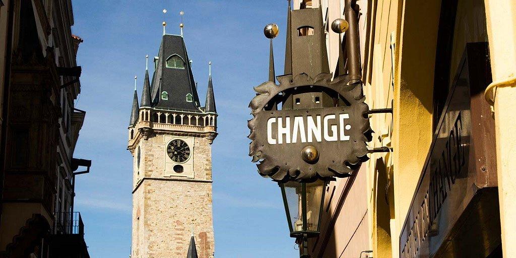 cambiar dinero en praga