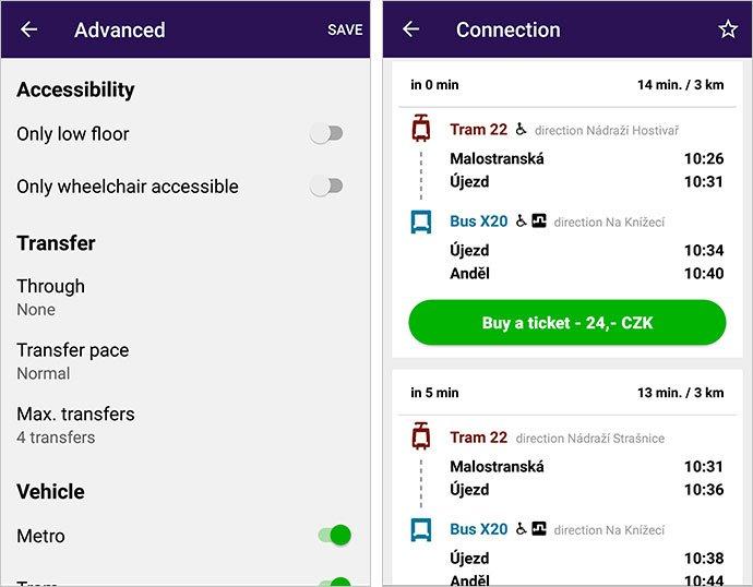 app del transporte público de praga