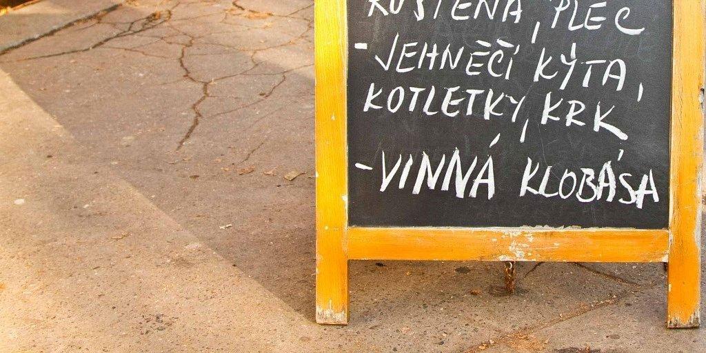 diccionario de comida checa