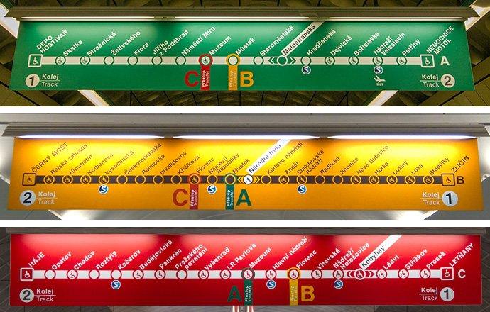 placas metro de praga