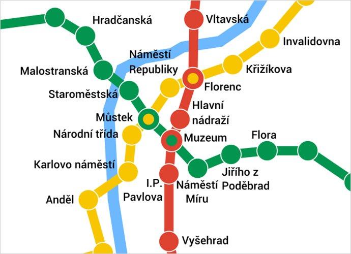 estaciones del metro de praga
